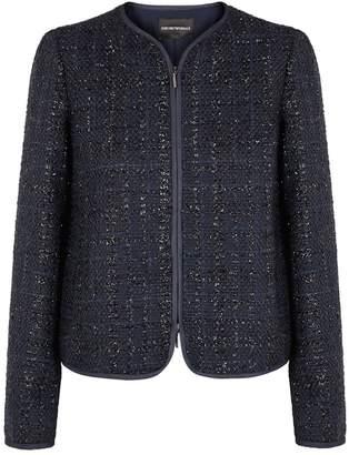 Emporio Armani Navy Tweed Jacket
