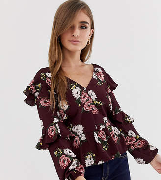 Miss Selfridge Petite Floral Wrap Dress