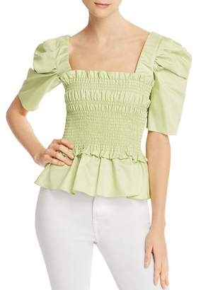 Amanda Uprichard Marisol Ruffled Smocked Top - 100% Exclusive