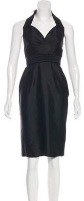 Alexander McQueen Silk Halter Dress