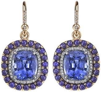 Irene Neuwirth lapis lazuli, sapphire and diamond earrings