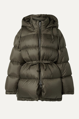Acne Studios Oversized Hooded Quilted Shell Down Jacket - Army green