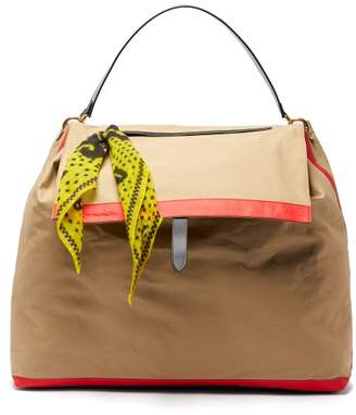 BEIGE Colville - Canvas And Leather Shoulder Bag - Womens Multi