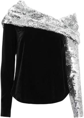 Monse Sequin Twist Top