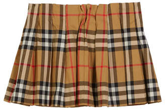 Burberry Pearl Check Pleated Skirt, Size 6M-2