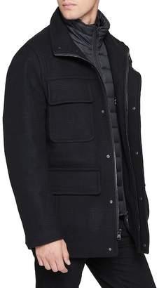 Andrew Marc Shadow Plaid Jacket
