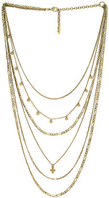 Luv Aj The Hammered Cross Multi Charm Necklace