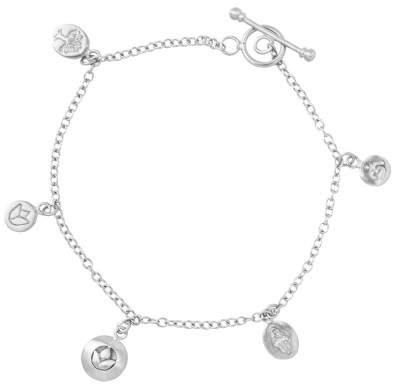 Styleserver DE Satya Armband mit Om, Hamsa und Lotus Charms Silber