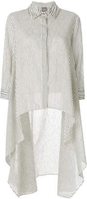Lorena Antoniazzi pinstripe high low hem shirt