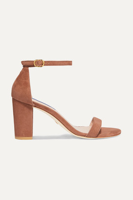 Stuart Weitzman Nearlynude Suede Sandals - Brown