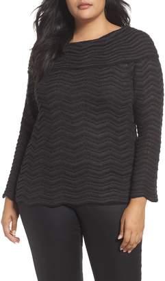 Nic+Zoe Zigzag Stripe Sweater