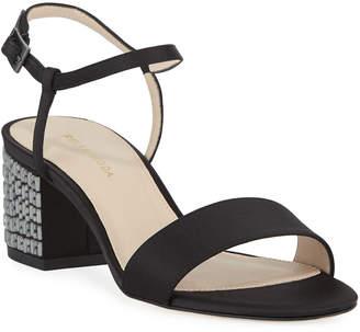 Pelle Moda Alicia Jeweled-Heel Sandals