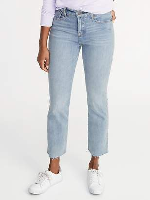 Old Navy High-Rise Secret-Slim Pockets Raw-Edged Flare Ankle Jeans for Women