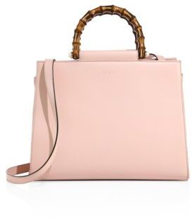 Gucci Leather Bamboo Top-Handle Tote $2,390 thestylecure.com