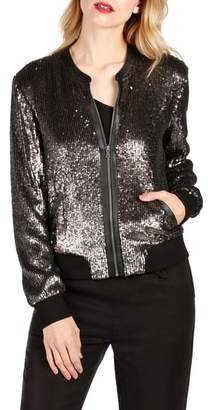 Paige Zaylee Sequin Bomber Jacket