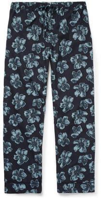 Desmond & Dempsey - Victor Printed Cotton Pyjama Trousers - Blue