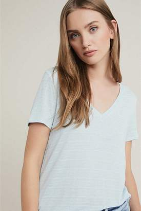 Witchery Self Stripe V Tee