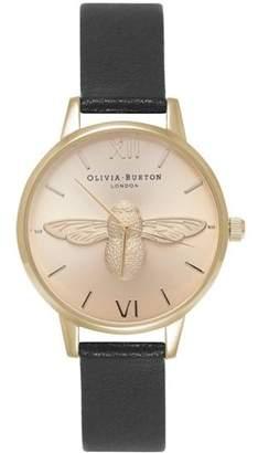 Olivia Burton Animal Motif 3D Bee Quartz Movement Gold Dial Ladies Watch OB15AM70
