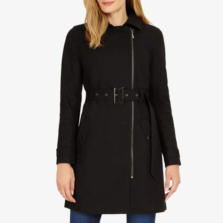Black Zipped Tabatha Trench Coat