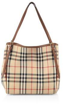 Burberry Canter Check Tote $895 thestylecure.com