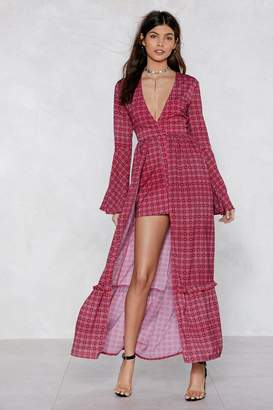 3a6630fbf15 Nasty Gal Business in the Front Maxi Romper