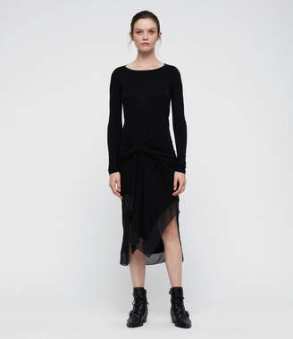 AllSaints Riviera Miro Long Sleeve Dress