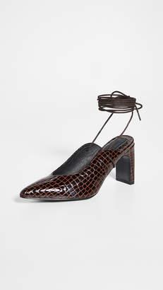 Jaggar Laced Croc Heel