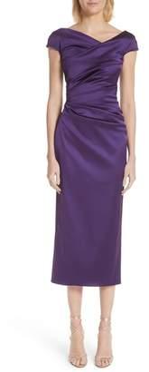 Talbot Runhof Stretch Duchess Satin Dress