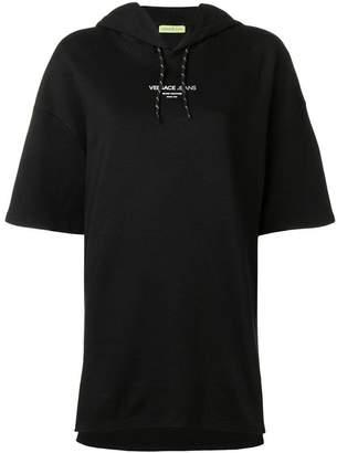 Versace contrast logo hoodie