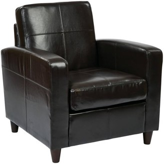 Office Star AVE SIX by Products Venus Eco Leather Club Chair
