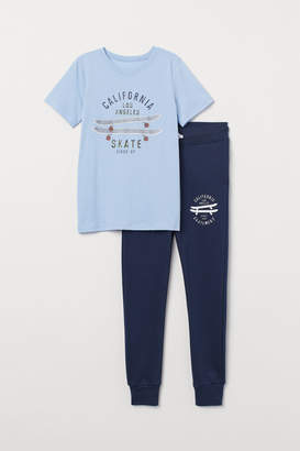 H&M T-shirt and Joggers - Blue