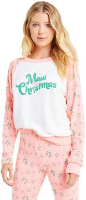 Wildfox Couture Maui Christmas Fiona Crew | Clean White Neon Sign