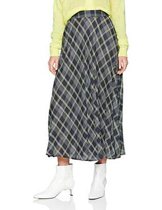 New Look Women's Lennox Check Midi62060 Skirt,(Manufacturer Size:)