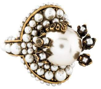 Gucci Faux Pearl Ring