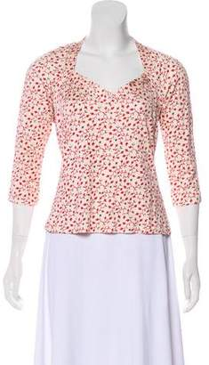 Tocca Silk Floral Print Blouse