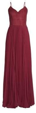 Laundry by Shelli Segal Suede& Chiffon Bustier Gown