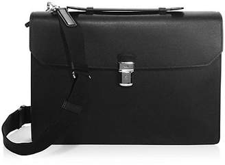 Dunhill Cadagan Single-Flap Leather Briefcase