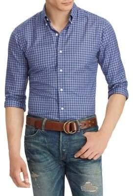 Polo Ralph Lauren Plaid Cotton Twill Long Sleeve Shirt