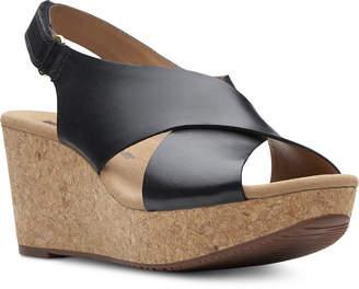 Clarks Collections Women's Annadel Eirwyn Wedge Sandals Women's Shoes