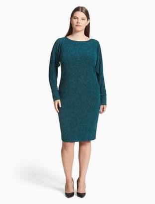 Calvin Klein plus size metallic open sleeve dress