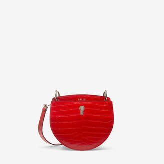 Bally Cecyle Small Red, Women's calf leather small crossbody bag in corvette