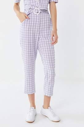 Urban Outfitters Lala Gingham High-Rise Cropped Pant