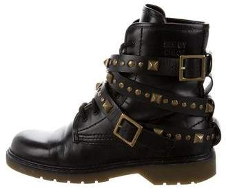 See by Chloe Studded Lace-Up Boots
