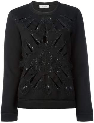 Valentino (ヴァレンティノ) - Valentino スパンコール装飾 ニットセーター
