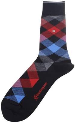 Burlington Mens Newcastle Socks - /Blue/Red