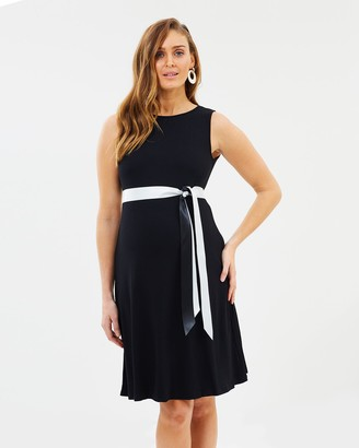 Angel Maternity Maternity Shift Party Bow Details Dress