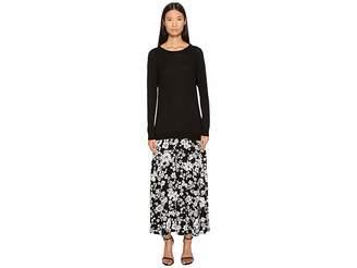 Moschino Sweater Trompe L'Eoil Maxi Women's Dress
