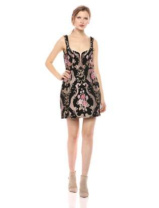 For Love & Lemons Women's Brocade Tapestry Mini Dress