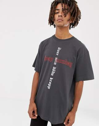 Cheap Monday Uni T-Shirt With Cross Logo