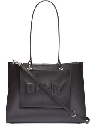 DKNY Mott Leather Logo Tote